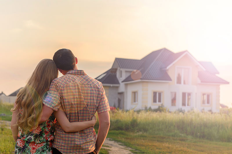 Couple looking at home